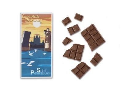 Шоколадная плитка «Смольный мост»