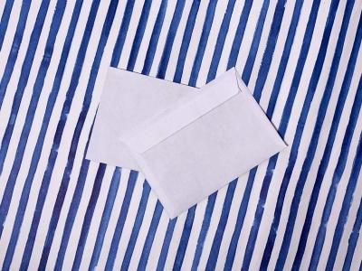 Конверт А6 белый с прямым клапаном и клеевым слоем