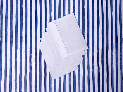 Набор белых почтовых конвертов А6, 5шт