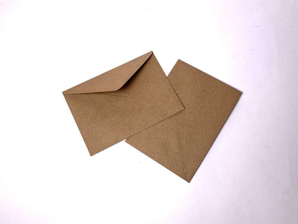 Конверт почтовый А6 крафт с треугольным клапаном