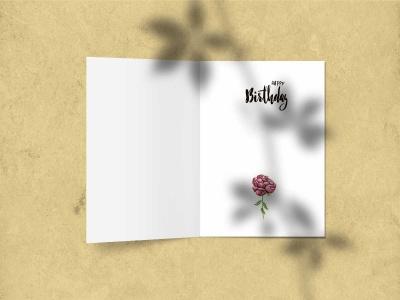Открытка поздравительная - С днем рождения