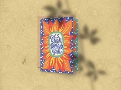 Поздравительная открытка «С днем Рождения» (цветок) на дизайнерской бумаге soft touch