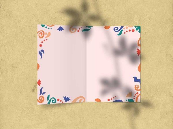 Открытка поздравительная - «С днем Рождения» (ленточки)