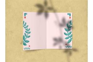 Открытка поздравительная - «Поздравляю» (цветок-смайл)