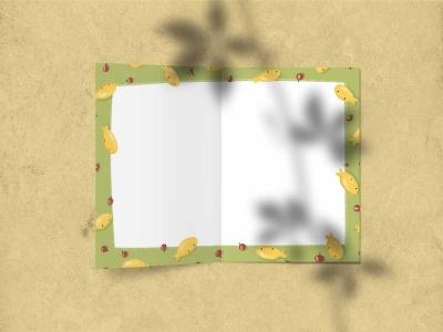 Поздравительная открытка «С днем рождения» (торт) на дизайнерской бумаге soft touch