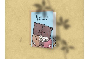 Открытка поздравительная С днем рождения «All you need is Love… and me»