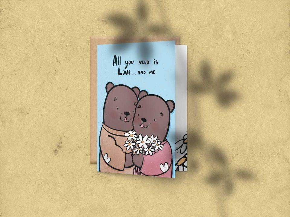 Поздравительная открытка «All you need is Love»