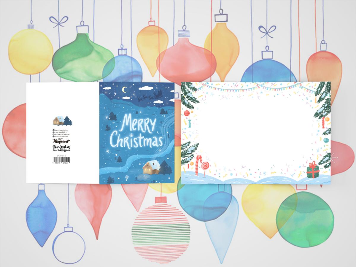 Открытка поздравительная новогодняя «Merry christmas ...
