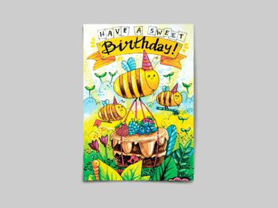 Открытка поздравительная - Sweet birthday