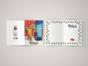 Поздравительная открытка второй половинке на дизайнерской бумаге soft touch