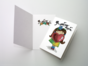 Открытка «Люблю для девочки» на дизайнерской бумаге soft touch