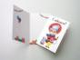 Открытка «С юбилеем!» на дизайнерской бумаге soft touch