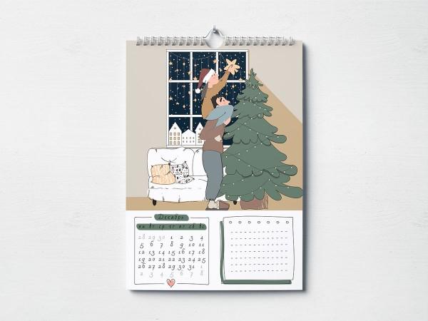 Календарь интерьерный Love story A3