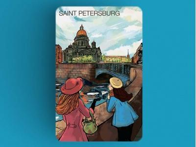 Магнит на холодильник «Исаакиевский собор», романтический Петербург