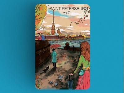 Магнит на холодильник «Петропавловская крепость», романтический Петербург
