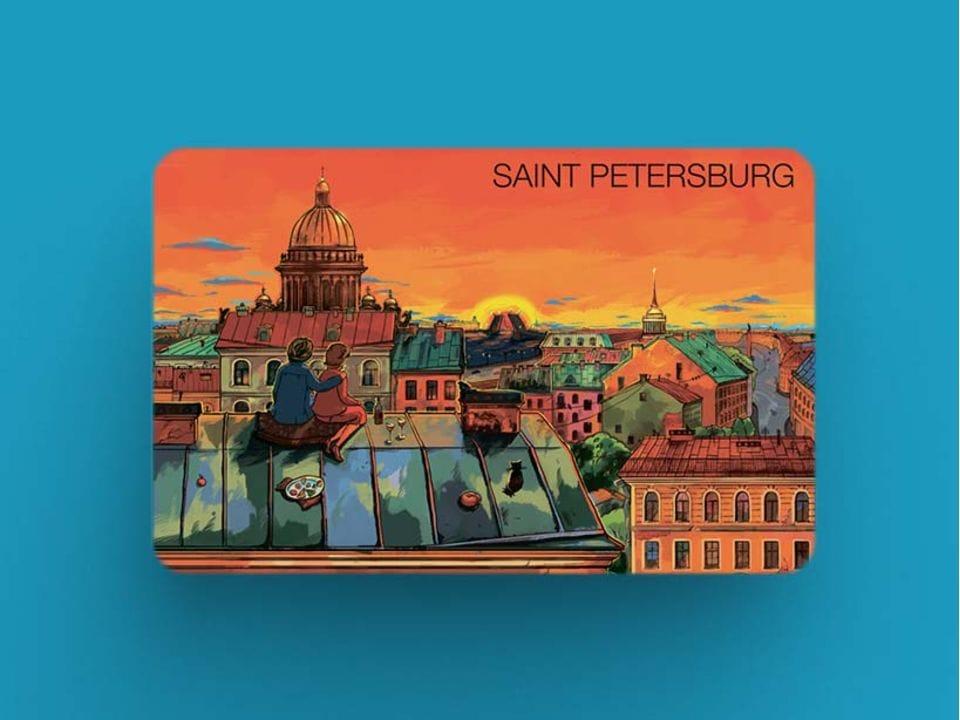 Магнит на холодильник из плотного картона «Исаакиевский собор» из серии Романтический Петербург