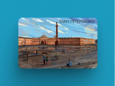 Магнит на холодильник «Александрийская колонна эрмитаж дворцовая площадь», романтический Петербург