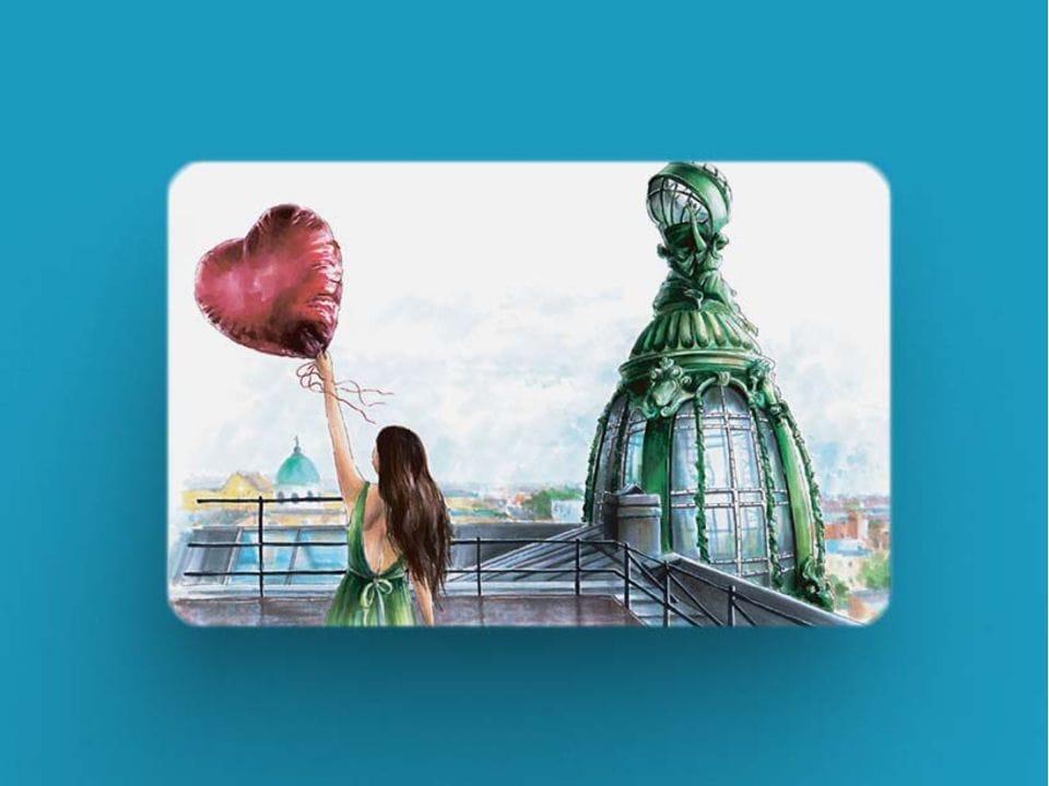 Сувенирный виниловый магнит на холодильник с плотным картоном и иллюстрацией о Петербурге