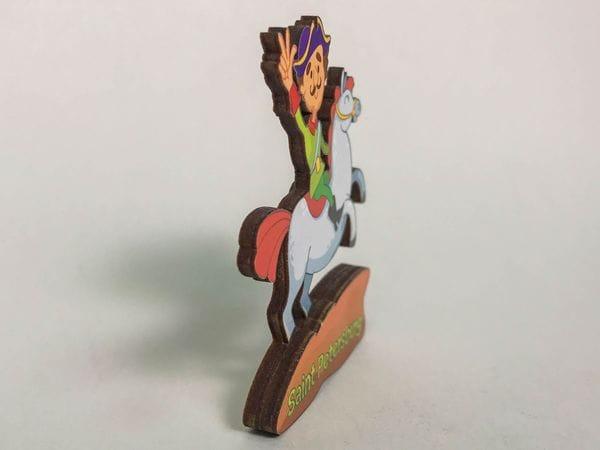 Магнит на холодильник 3D из дерева «Петр I. На коне»