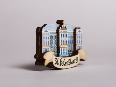 Магнит на холодильник 3D из дерева «Царское село»