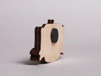 Сувенирный магнит на холодильник из дерева с 3D эффектом «Царское село»