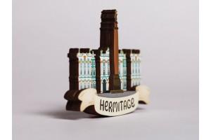 Магнит на холодильник 3D из дерева «Эрмитаж», Петербург, объемный