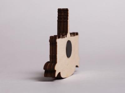 Сувенирный магнит на холодильник из дерева с 3D эффектом «Эрмитаж»