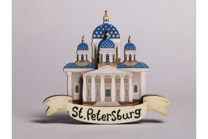 Магнит на холодильник 3D из дерева «Троицкий собор», Петербург, объемный
