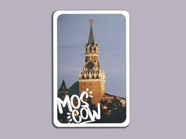 Магнит на холодильник  «Спасская башня Кремля»