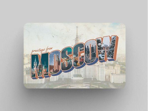 Магнит на холодильник «Moscow - МГУ»