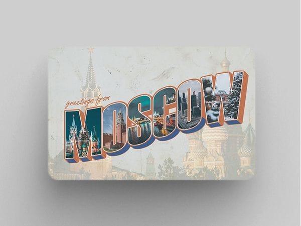 Магнит на холодильник «Moscow - Кремль и Храм Василия Блаженного»
