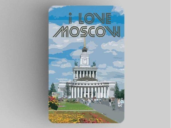 Магнит на холодильник  I love Moscow «ВДНХ»