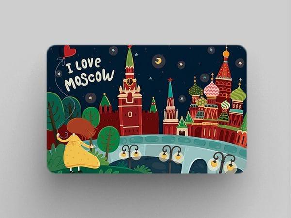 Магнит на холодильник «I love Moscow» - Панорама с Зарядье