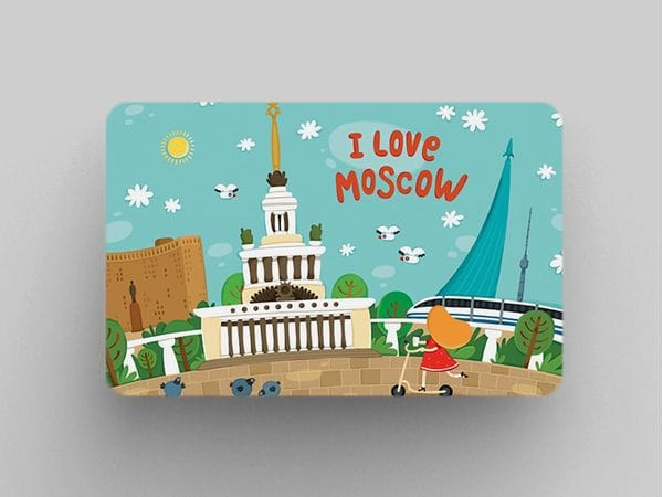 Магнит на холодильник «I love Moscow» - Панорама с ВДНХ