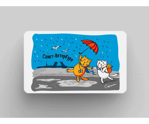 Магнит на холодильник из плотного картона «Санкт-Ветербург»