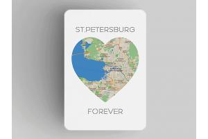 Магнит на холодильник «Петербург в сердце St Petersburg Forever», Петербург
