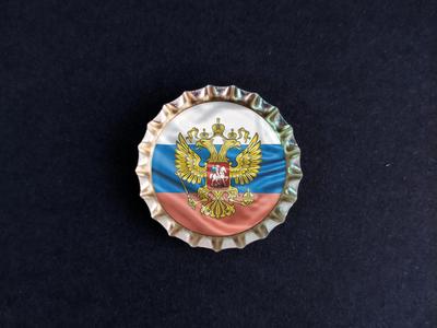 Магнит на холодильник Пробка с магнитом «Герб и Флаг РФ»