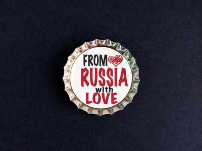 Пробка с магнитом «From Russia with love» сердце