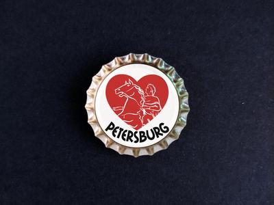 Пробка с магнитом «Petersburg» Медный всадник в сердце