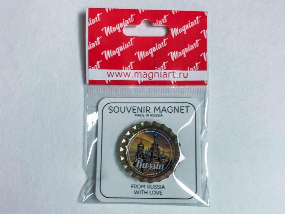 Магнит на холодильник Пробка с магнитом «Спас-на-Крови» закат фото