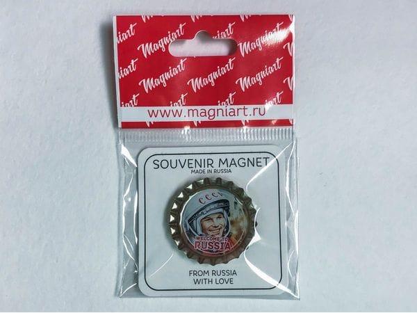 Пробка магнит сувенирная «Гагарин»
