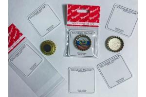 Пробка магнит сувенирная «Герб и Флаг РФ»