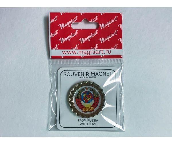 Магнит на холодильник Пробка с магнитом «Герб СССР»