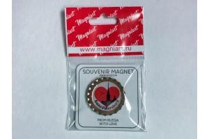 Пробка магнит сувенирная «Saint Petersburg» Петропавловка в сердце
