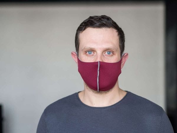 Взрослая защитная маска цвет «Бордо»