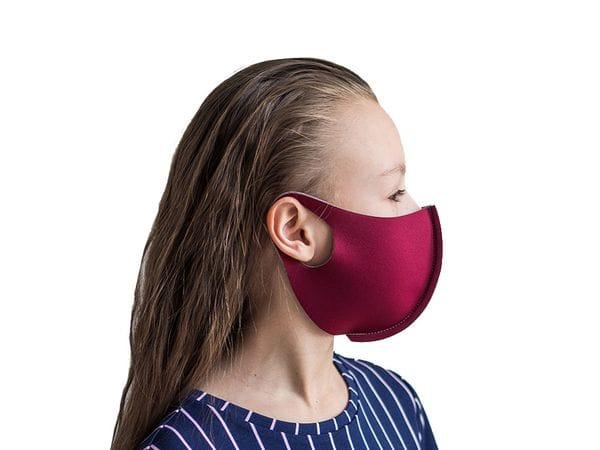 Детская защитная маска цвет «Бордо»