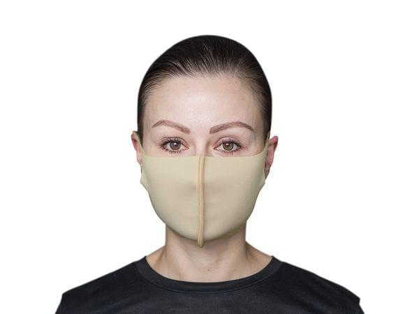 Взрослая защитная маска цвет «Молочный»