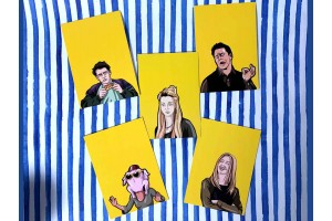 Набор открыток с героями сериала Friends 5шт