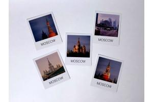 Набор почтовых карточек Polaroid «Москва». 5шт