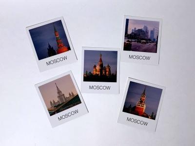 Почтовые открытки формата Polaroid 5шт в наборе